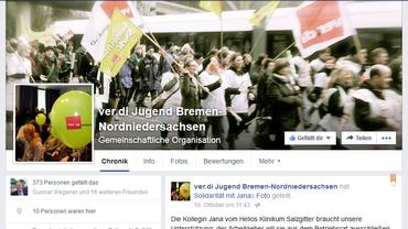ver.di Jugend auf Facebook _Bremen-Nordniedersachsen