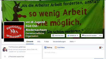 ver.di Jugend auf Faceebook _Süd-Ost-Niedersachsen