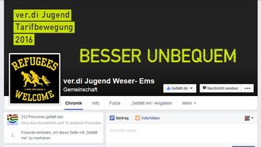 ver.di Jugend auf Faceebook _Weser-Ems