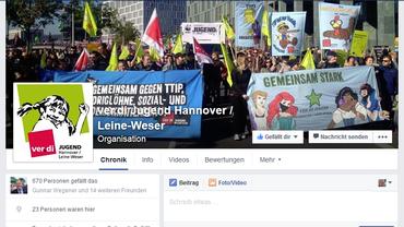 ver.di Jugend auf Faceebook _Hannover/Leine-Weser