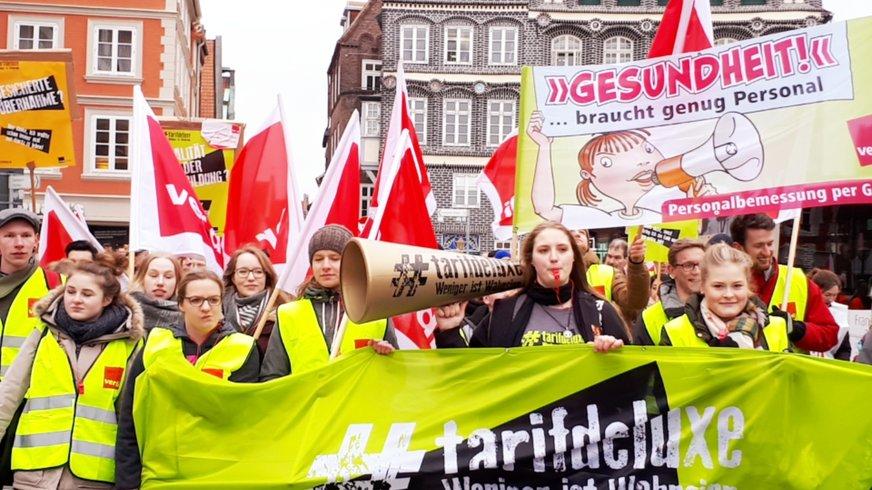 Tarifrunde ÖD 2018: Warnstreik der Jugend am 15.03.2018 in Lüneburg