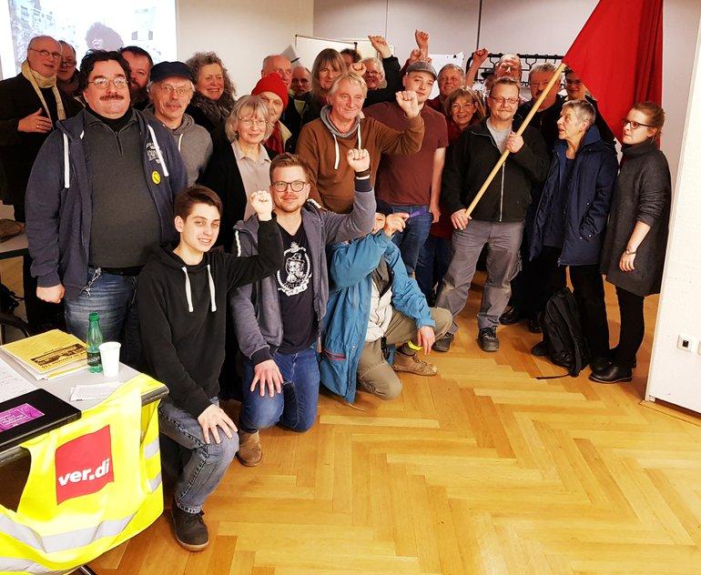 Solidaritätsfoto mit den Generalstreiks in Frankreich